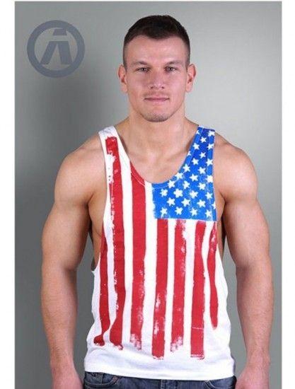 camiseta aerosol usa flag