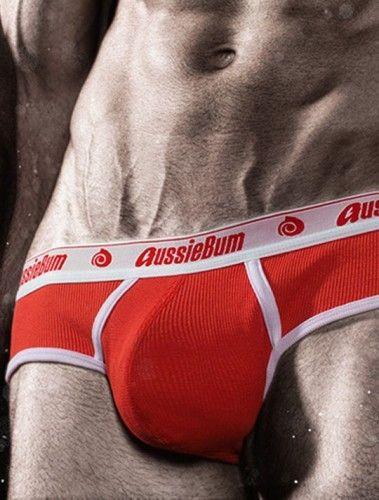 slip rojo de Aussiebum patriot
