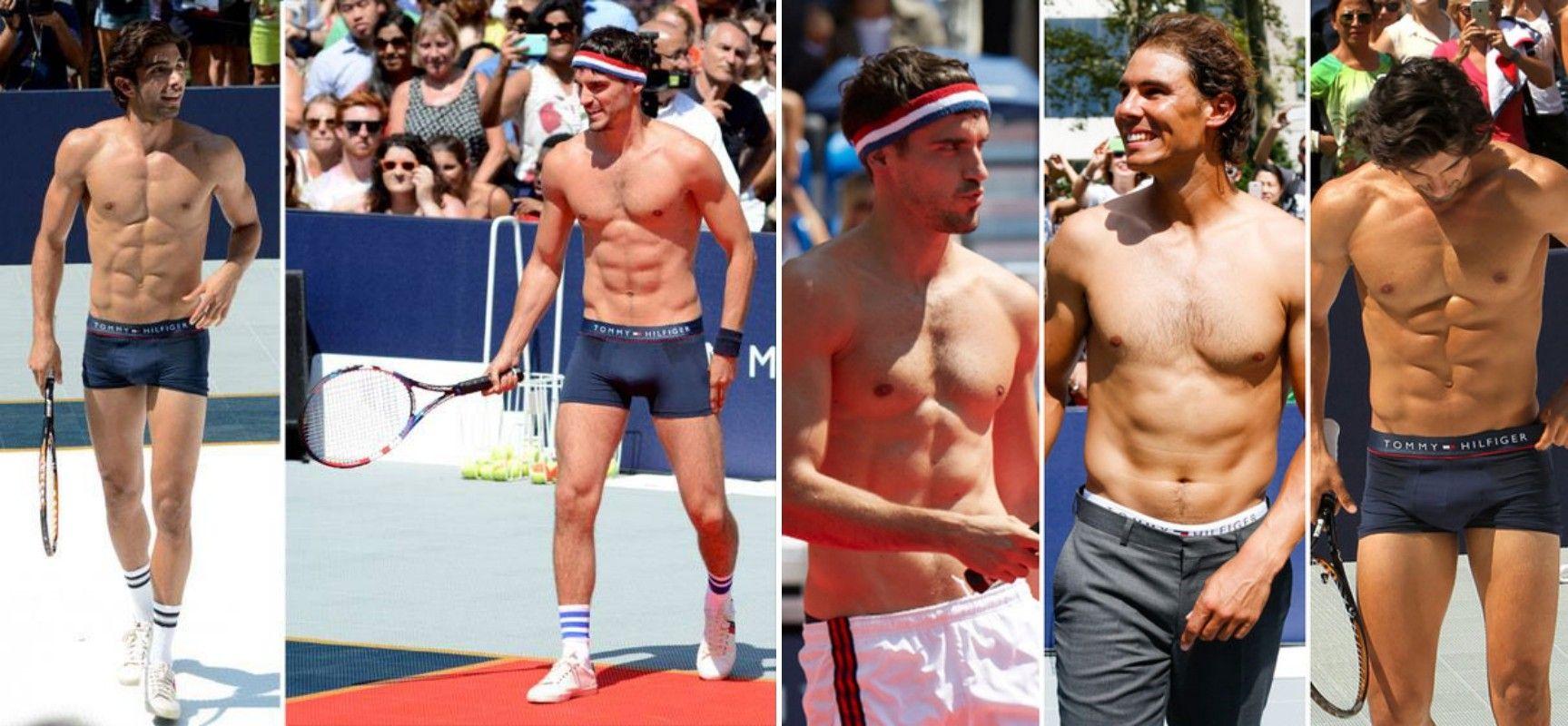 Evento de strip tenis en Nueva York Rafa y Tommy