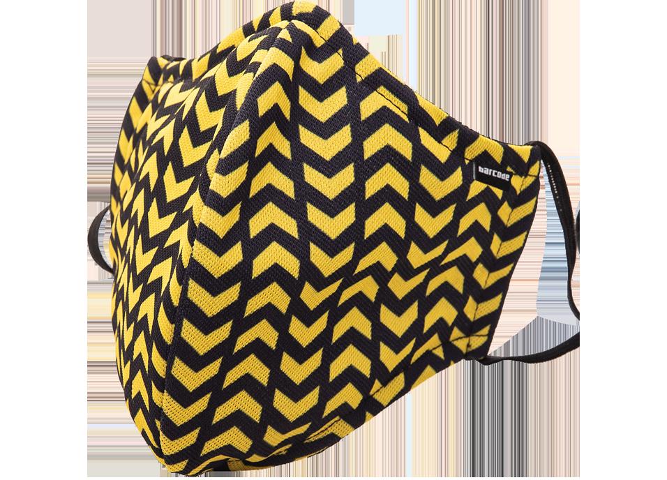 mascarilla barcode berlin amarilla